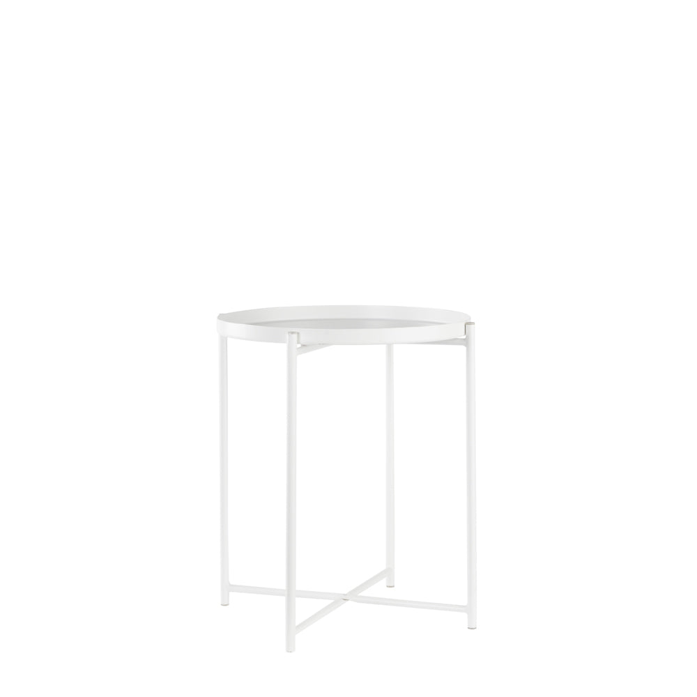 Valise Macau Side Table in Alabaster White