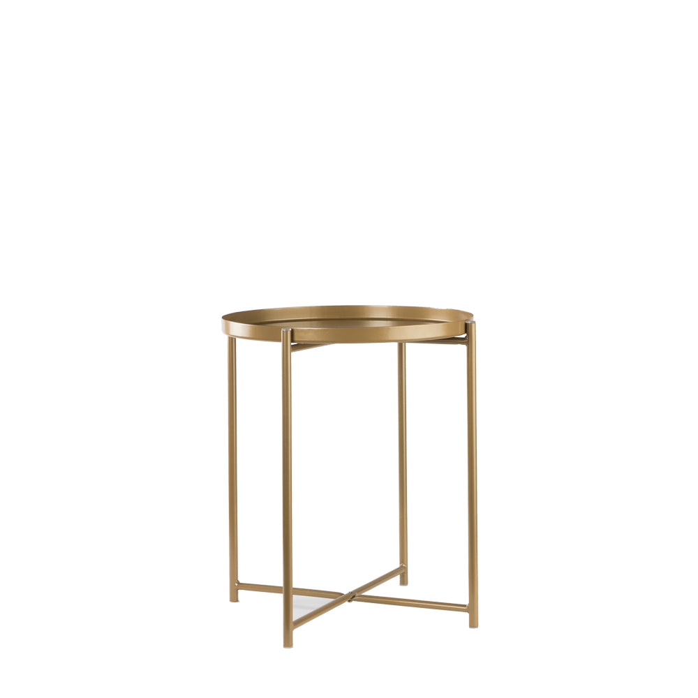Valise Macau Side Table in Olive Gold
