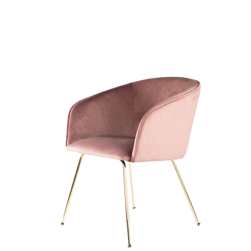Valise Soho Armchair in Velvet Pink