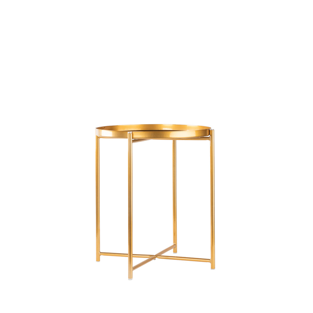 Valise Macau Side Table in Royal Gold