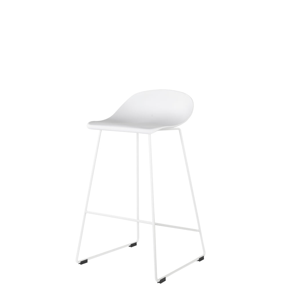 Set of 2 Valise London Stool 65cm in Alabaster White