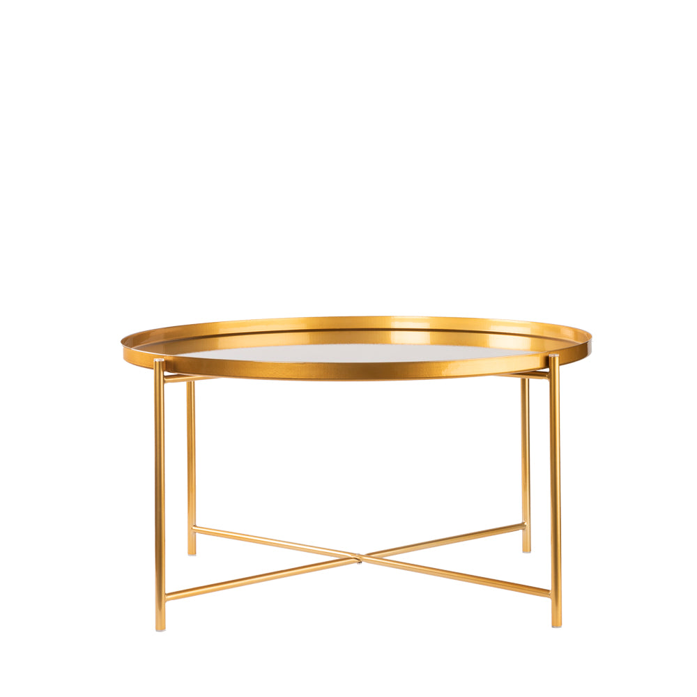 Valise Macau Coffee Table in Royal Gold