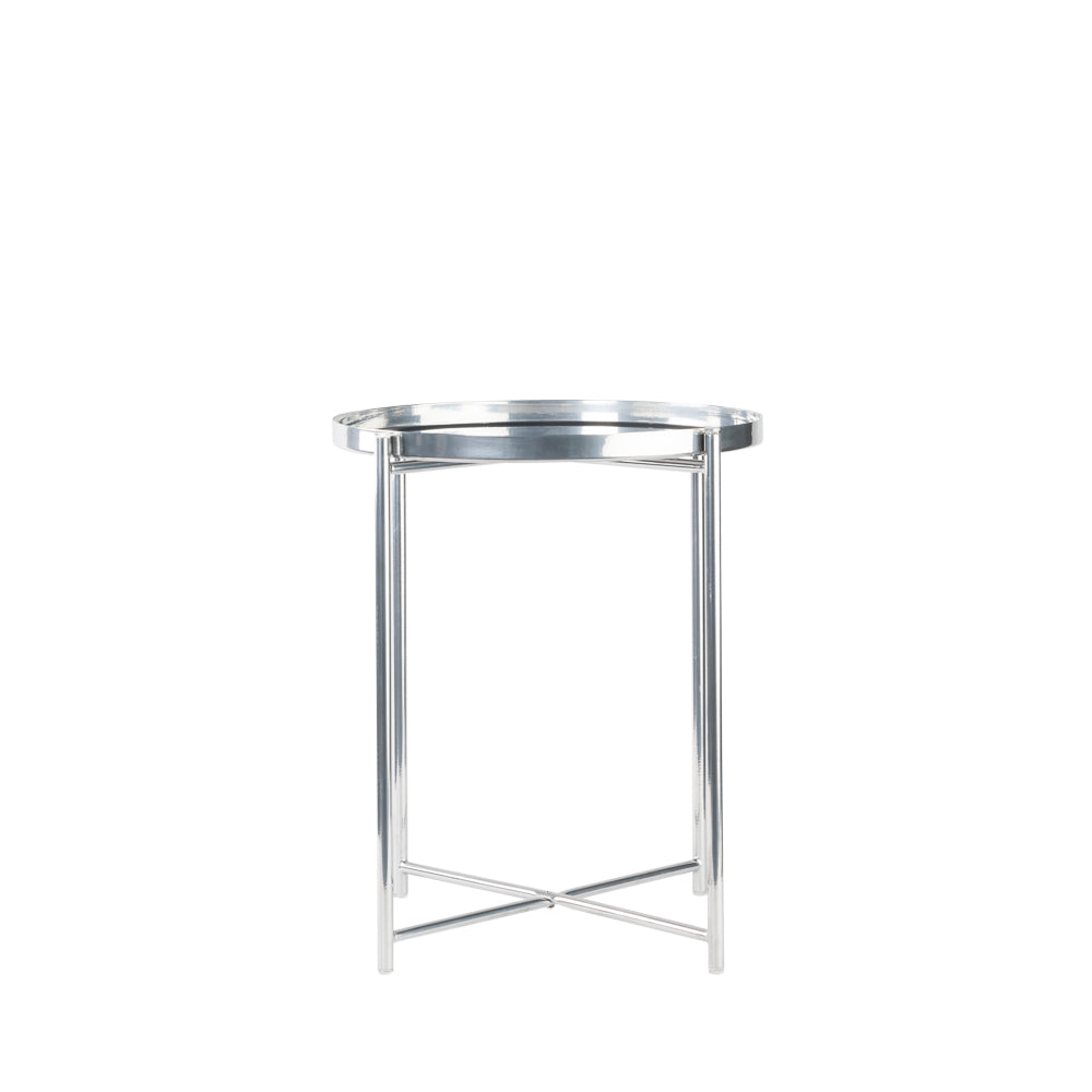 Valise Macau Side Table in Chrome