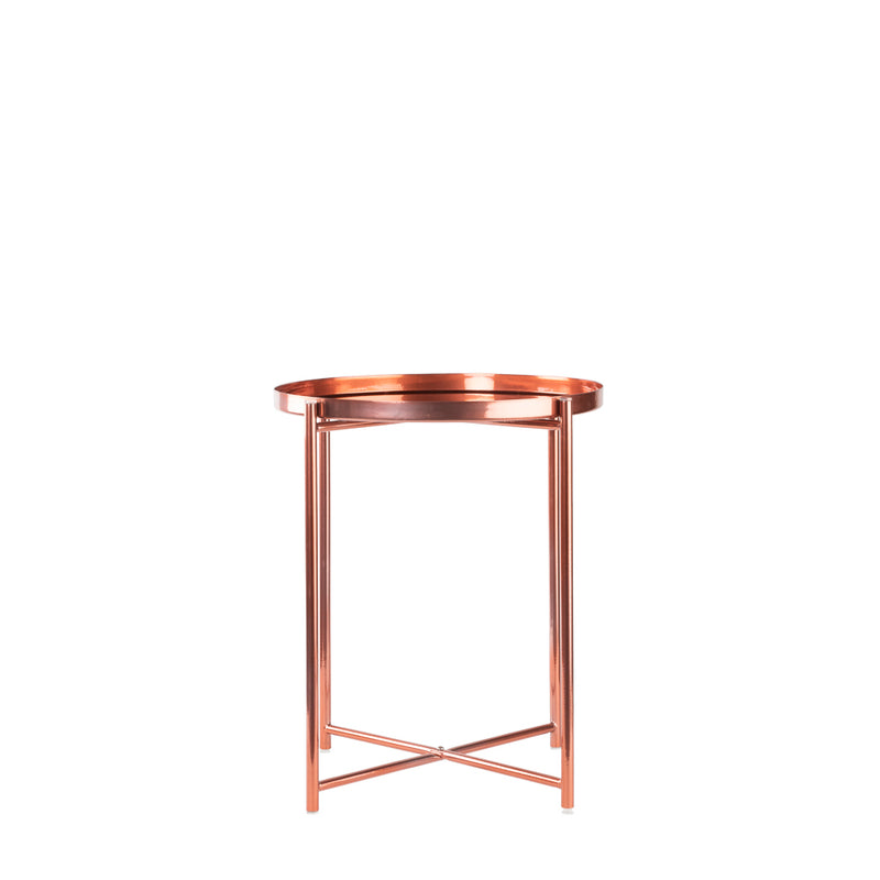 Valise Macau Side Table in Rose Gold