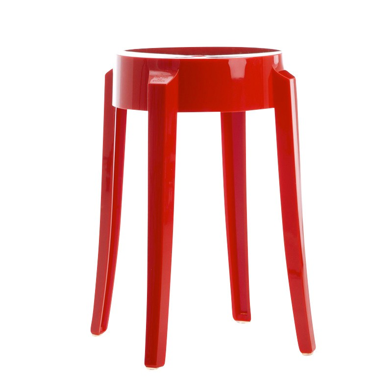 Replica Philippe Starck Ghost Barstool 45CM Red