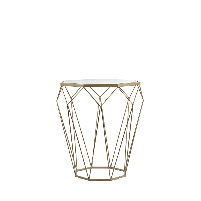 Valise London Side Table in Olive Gold