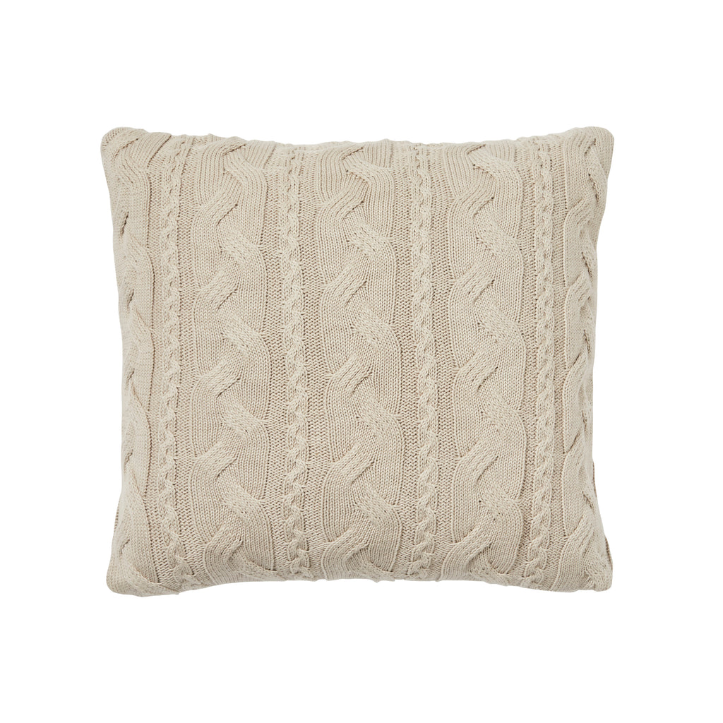 Weave Miramar Knitted Cushion Sandstorm