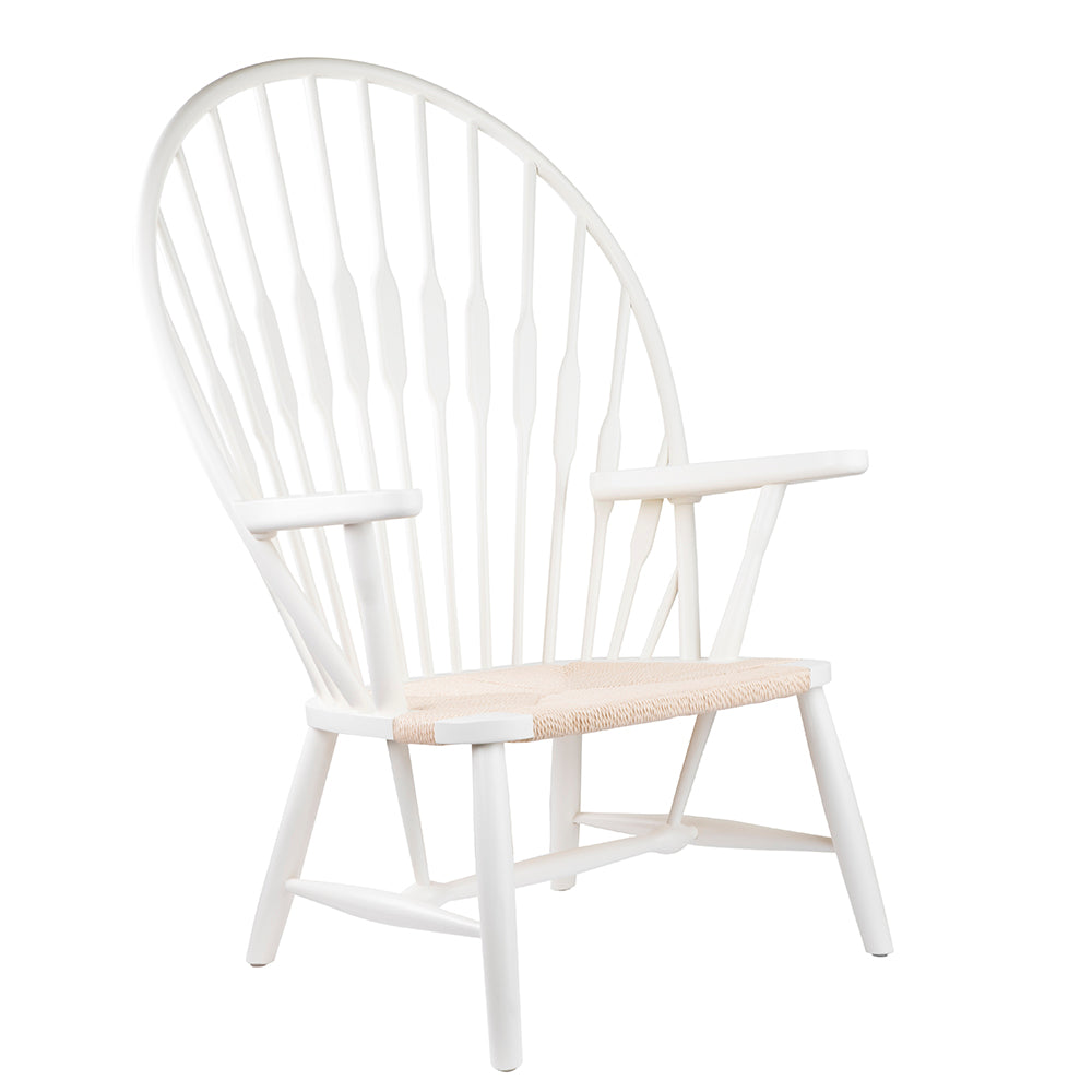 Replica Hans Wegner Peacock Chair in Ivory White