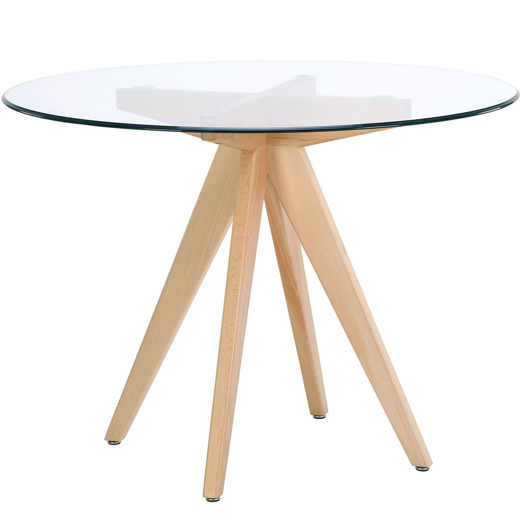 Valise Stockholm Round Dining Table in Natural Ash