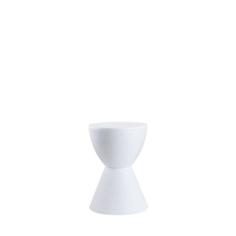 Valise Stockholm Hourglass Stool in Alabaster White