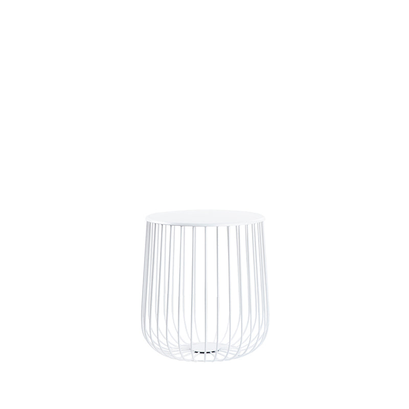 Valise Tokyo Side Table in Alabaster White