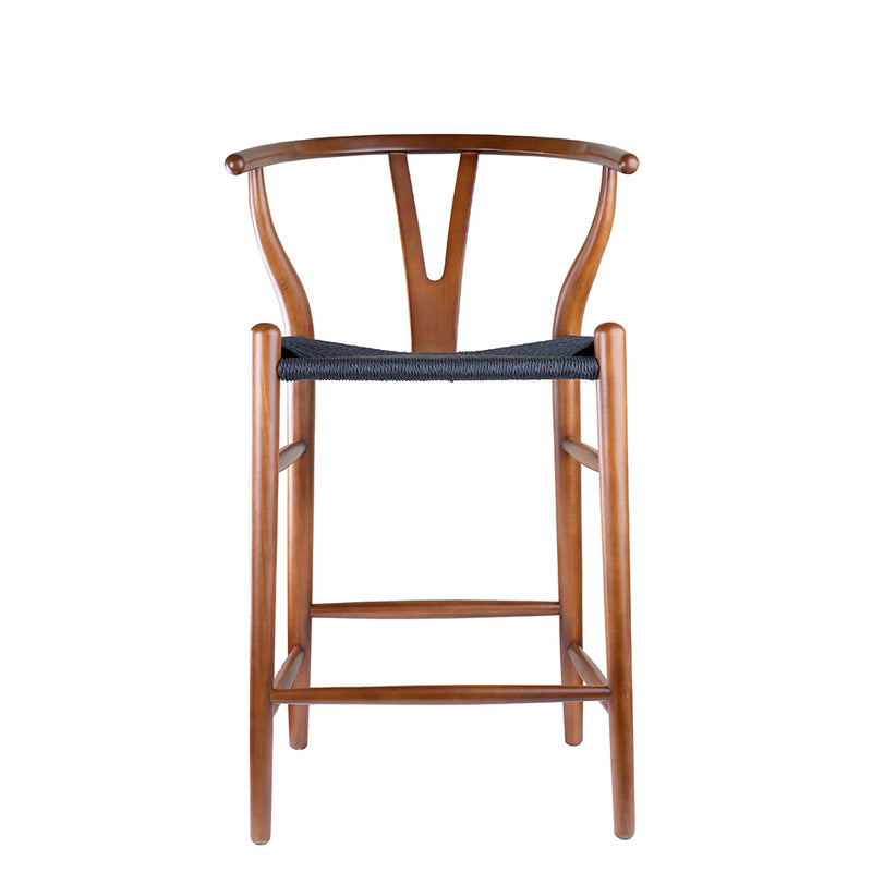 Replica Hans Wegner Wishbone Stool in English Walnut