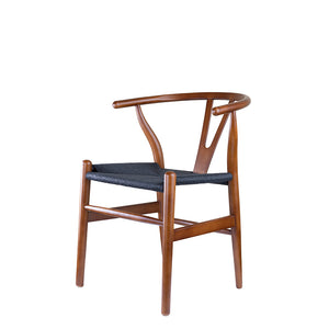 Set of 2 Replica Hans Wegner Wishbone Chair in English Walnut