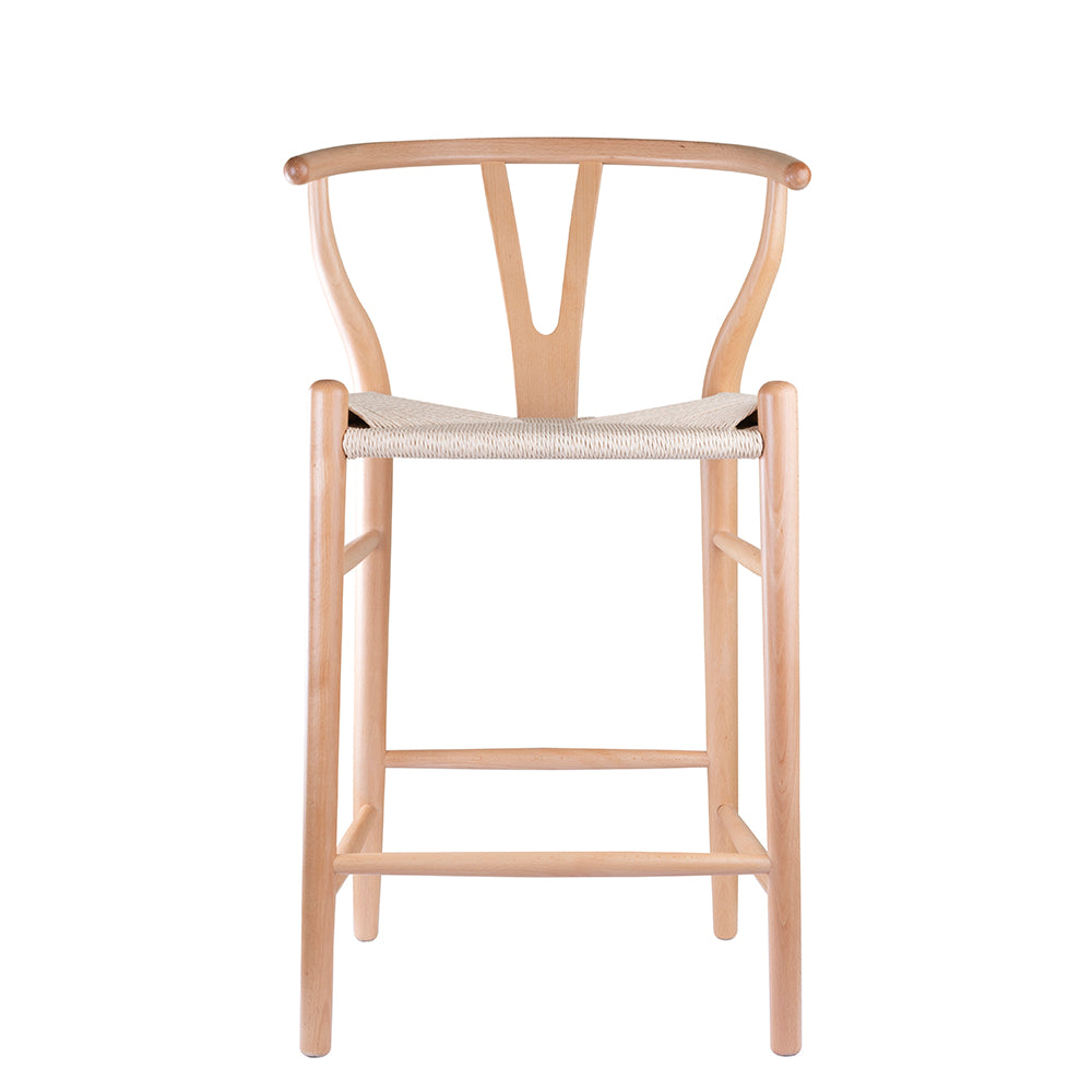 Replica Hans Wegner Wishbone Stool in Natural Ash