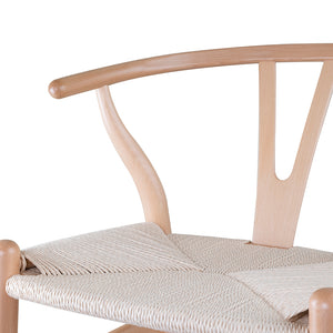 Set of 2 Replica Hans Wegner Wishbone Chair in Natural Ash
