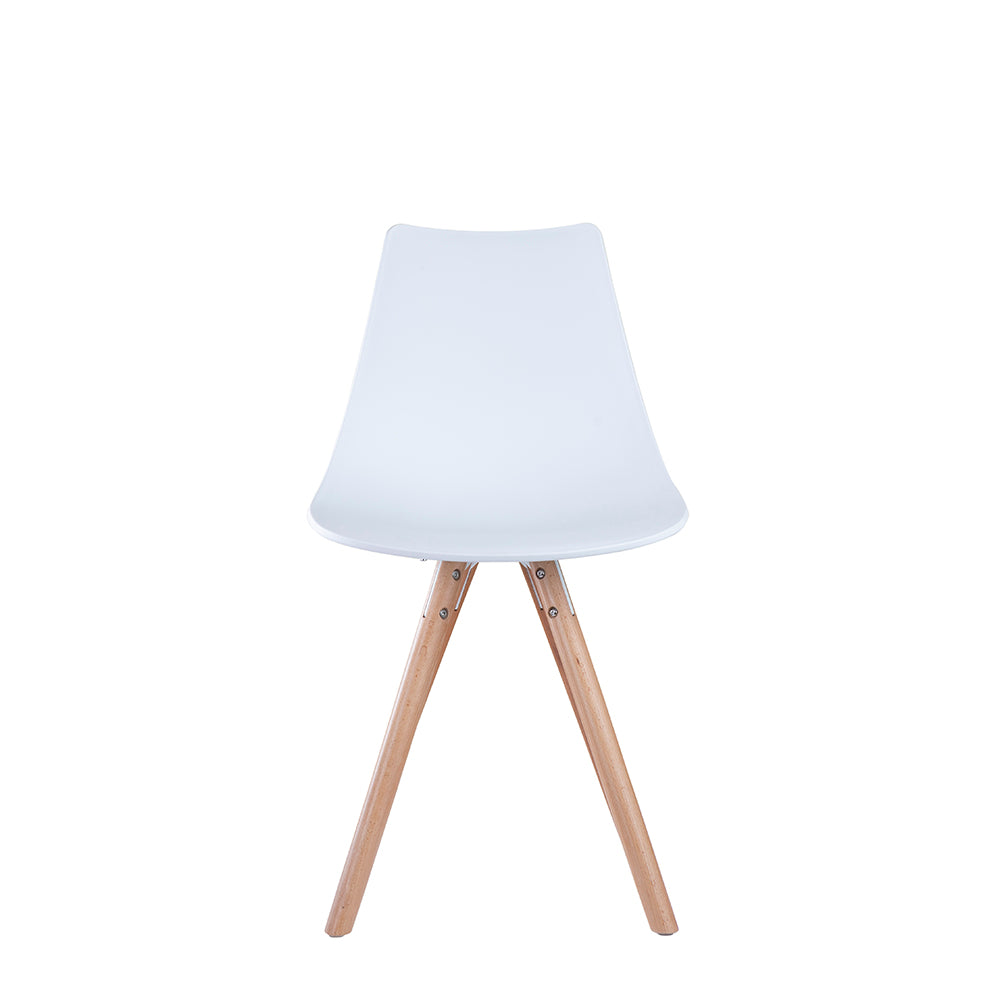 Set of 2 Valise York Side Chair in Alabaster White with Natural Ash Legs