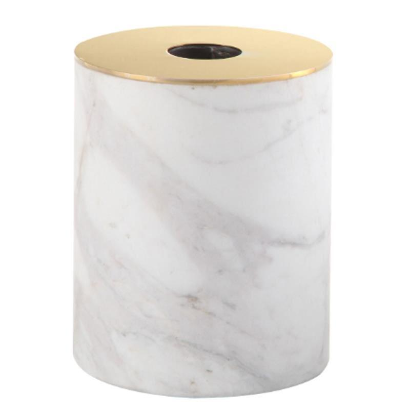 Valise Carrara Candle Holder White Marble