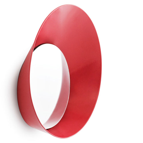 Normann Copenhagen Ready Wall Hook with Mirror Red