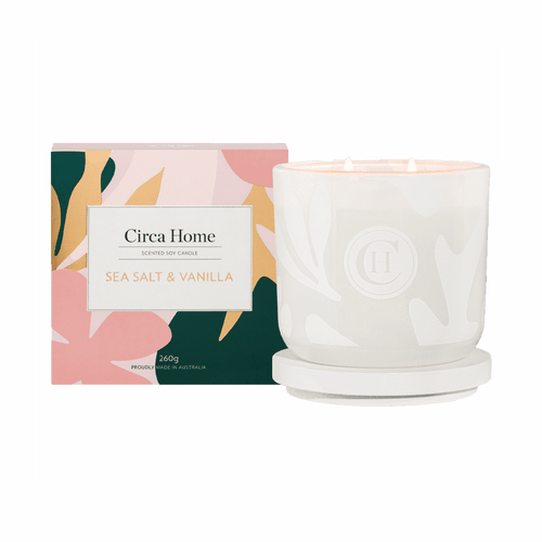 Circa Home Sea Salt & Vanilla 260g Soy Candle
