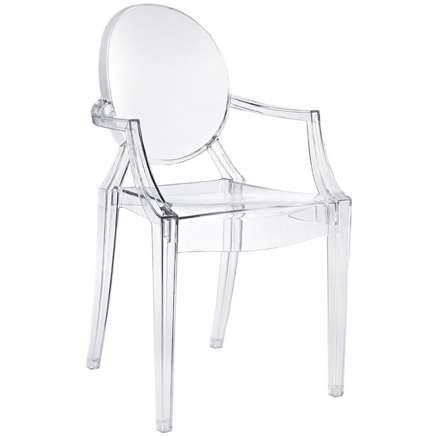 Set of 2 Replica Philippe Starck Louis Ghost Chair Clear