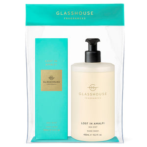 Glasshouse Fragrances 550ml Lost in Amalfi Hand Set