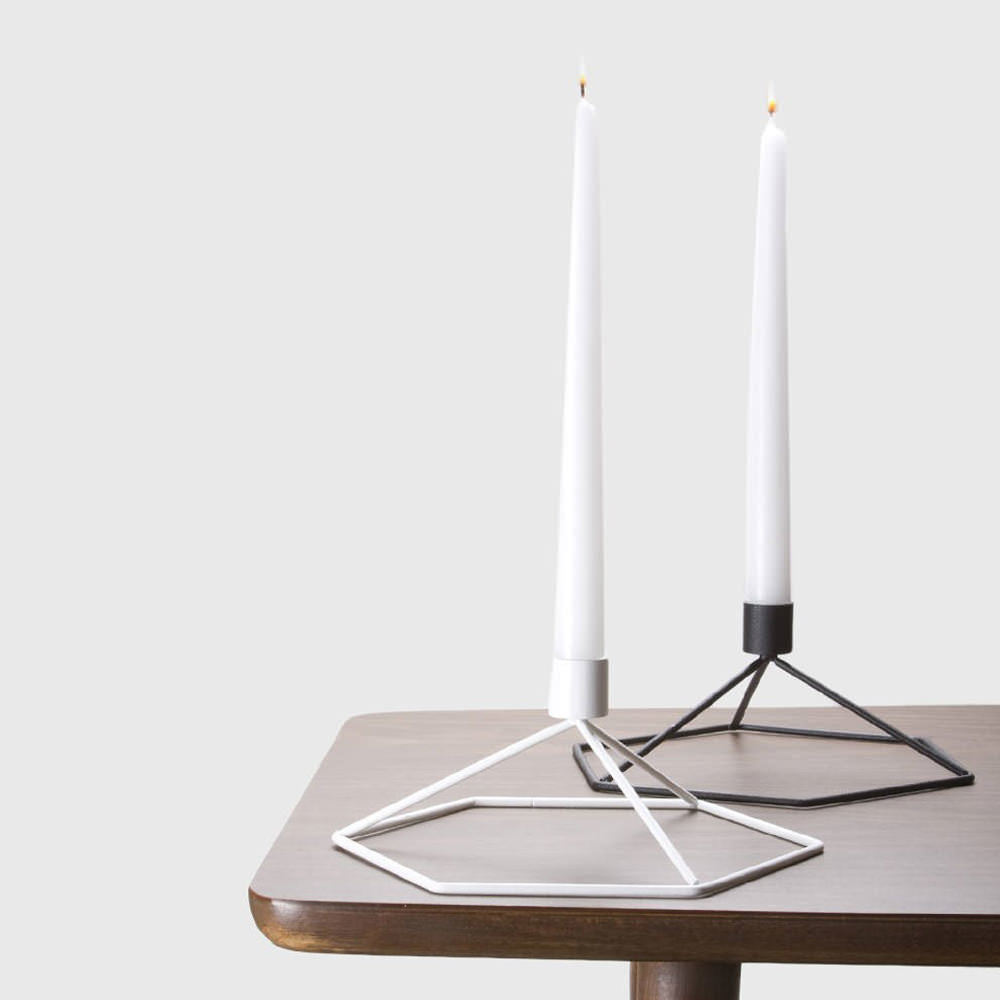 Menu POV Table Candleholder Warm Grey