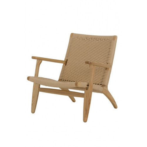 Replica Hans Wegner Easy Chair in Natural Ash