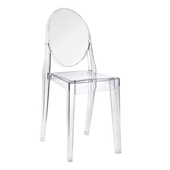 Set of 2 Replica Philippe Starck Victoria Ghost Chair Clear