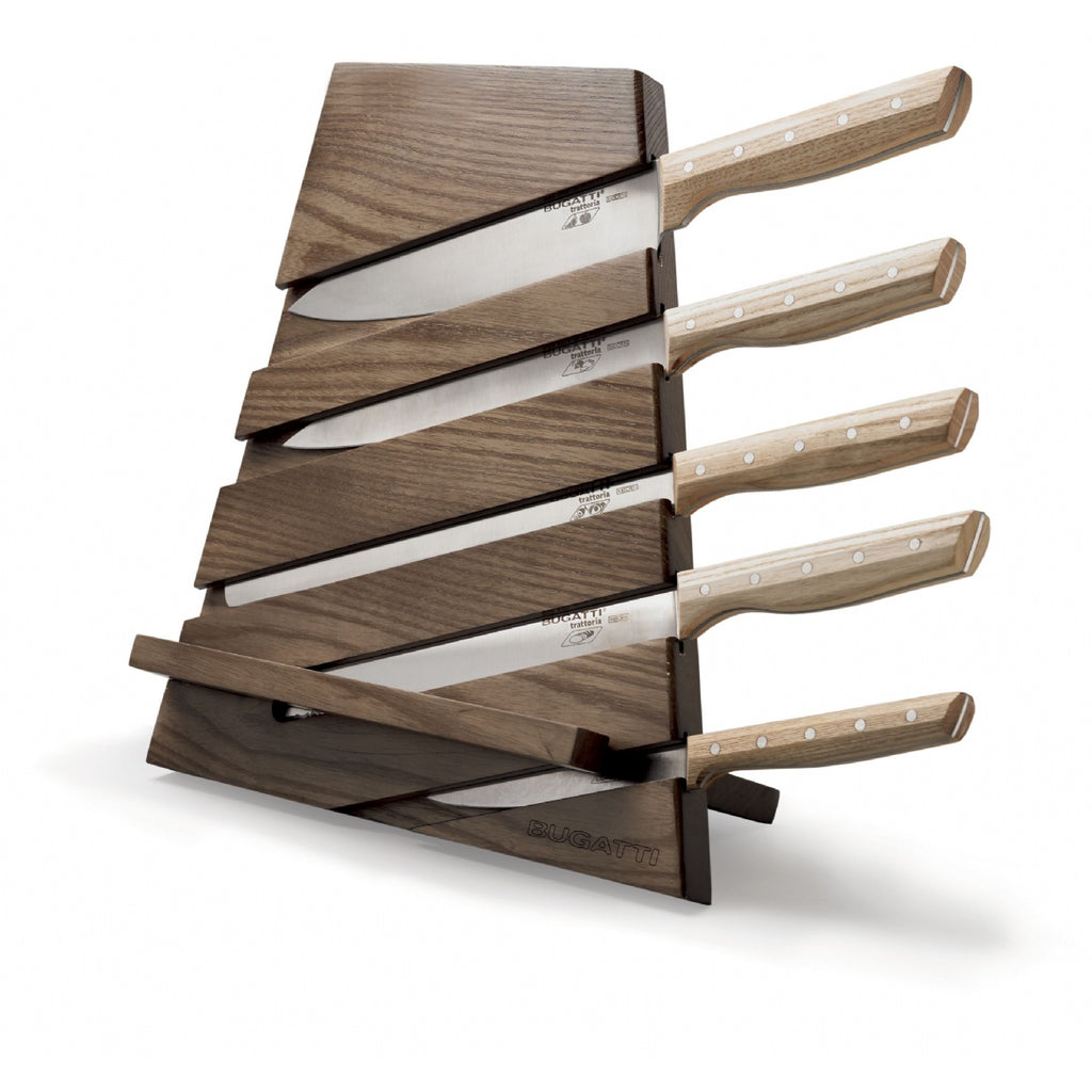 Bugatti Trattoria Knife Block with 5 Trattoria Knives and Cutting board