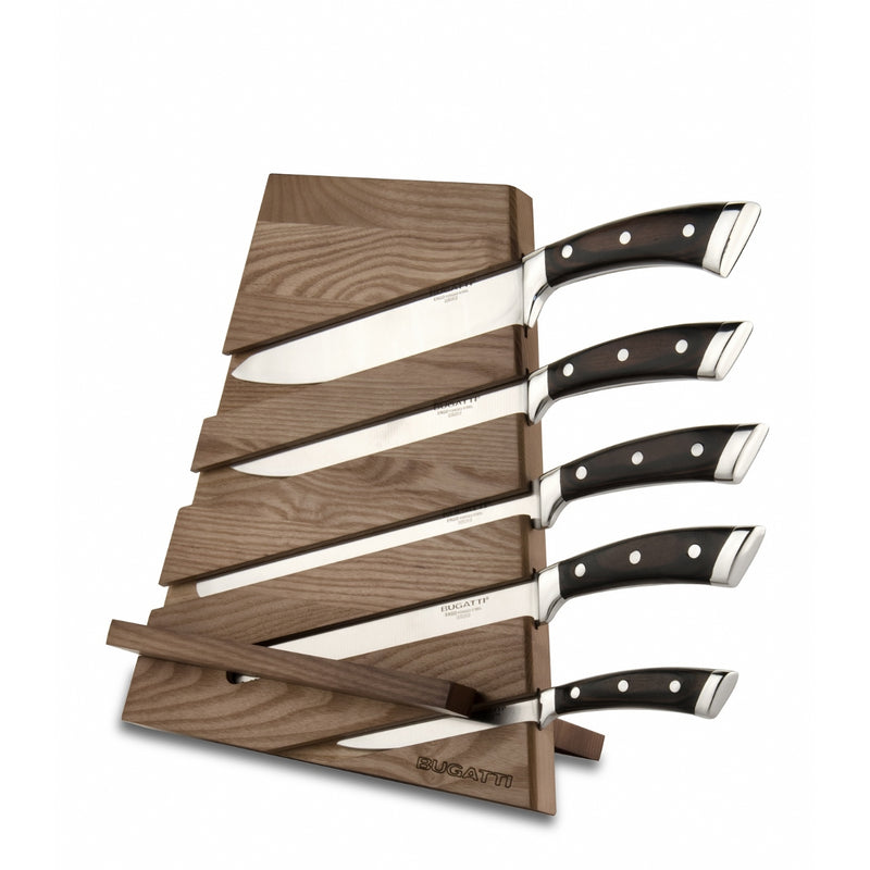 Bugatti Trattoria Knife Block with 5 Pakka Knives and Cutting board