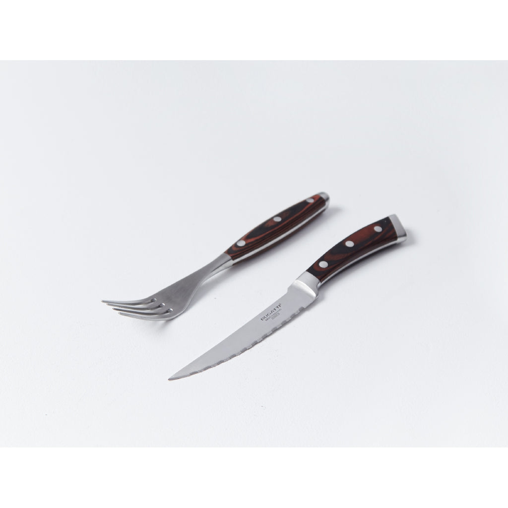 Bugatti Pakka Fork and Steak Knife Set