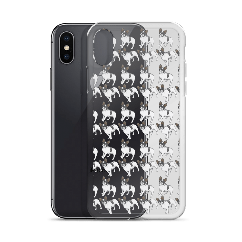 Black and White French Bulldog iPhone Case (choose your model) - Parent Of Pet