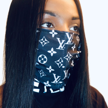 LV Printed Fashion Face Mask