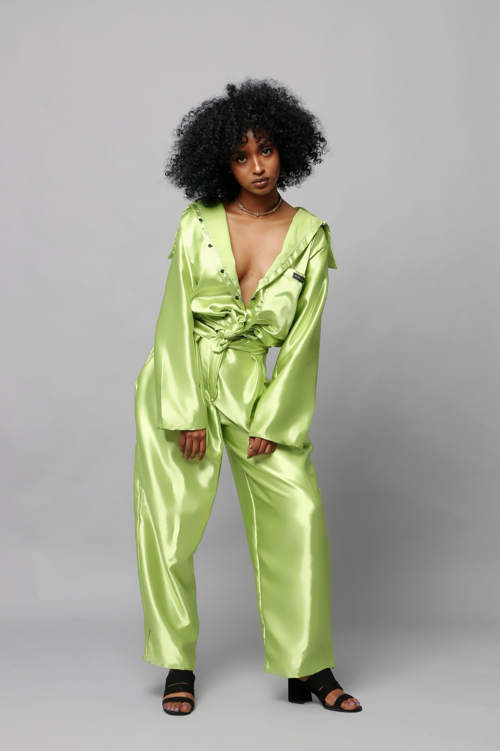 DÉJÀ VU DRESS PANTS - AVOCADO GREEN