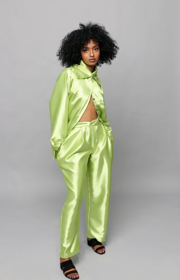 Chartreuse Over-Sized Shirt