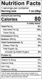 Sweet 'n Spicy Grass-Fed Beef Snack Stick Nutrition Facts