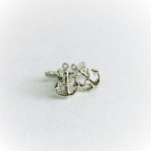 Stitched tailor anchor style cufflink