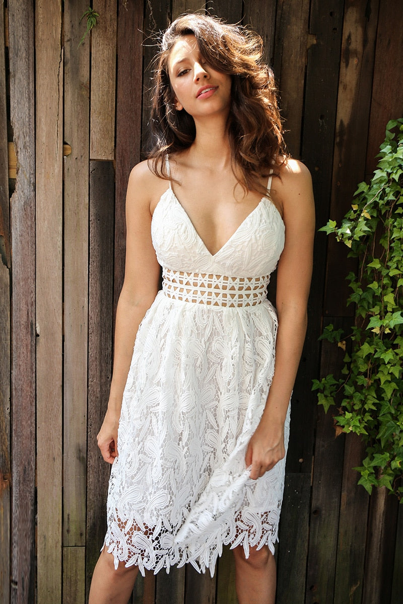 Breath Of Life White Lace Dress