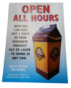 2 Printed Beer Hoppers + Poster (case of 100)