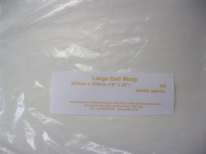Large Deli-Wrap pack of 100