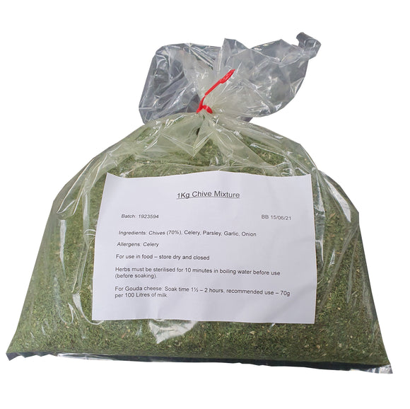 Chive mixture for cheese making - 1Kg