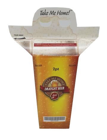 Beer Hoppers - 2 Pint Carry-Out Carton with Handle
