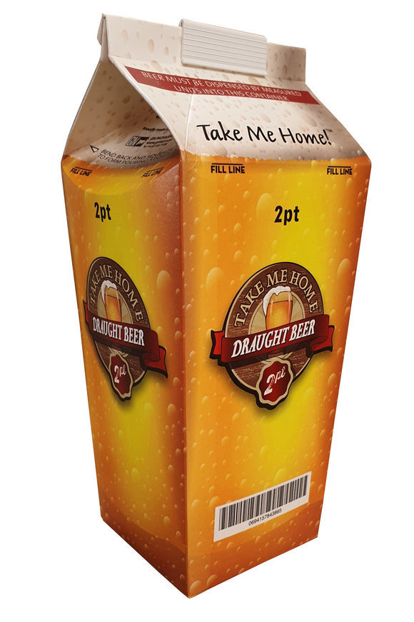Beer Hoppers - 2 Pint Disposable Cartons