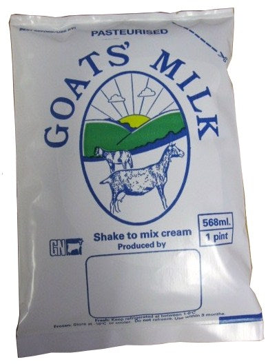 Milk Bags 1 pint (568ml) x 100 - Goat's & Cow's Milk
