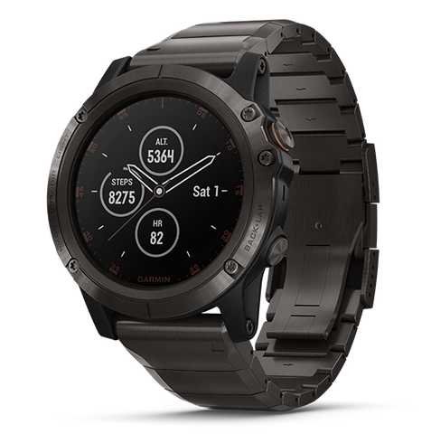 Fenix 5X Plus Carbon Gray DLC Titanium