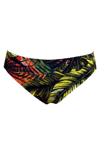 Reversible Bikini Brief Confort Fit in Black Color and Tropical Print
