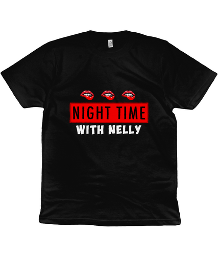 Nighttime With Nelly T Shirt - Black