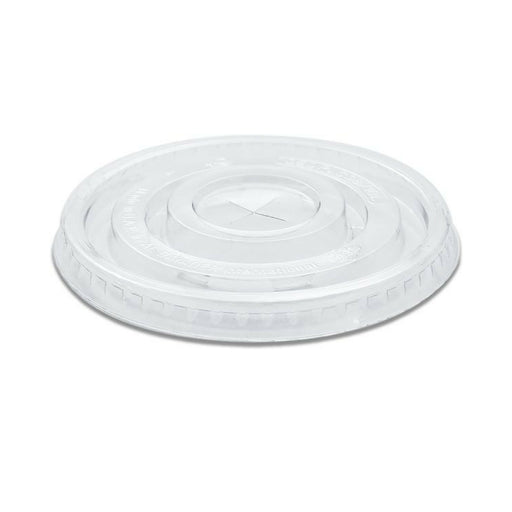 10z PET Clear Flat S/S Lid