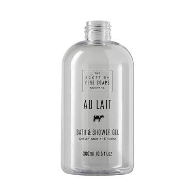 Au Lait Bath & Shower Gel 300ml Empty Printed Bottle