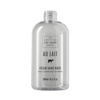 Au Lait Creme Hand Wash 300ml Empty Printed Bottle